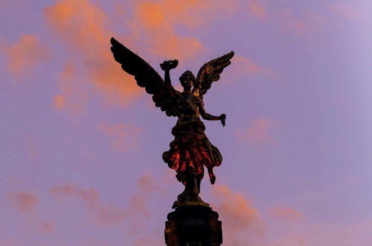 Erhabener Engel (© Alejandra Rodríguez/NOTIMEX/dpa) - Anmerkung: Göttin Viktoria
