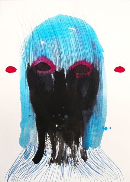 Untitled, drawing, acrylic, crayon, 2013 justyna-adamczyk.tumblr.com
