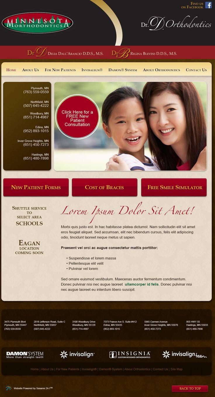 sesamewebdesign psds ortho responsive brown red