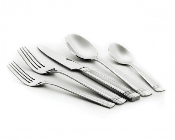 Kouros Sand Finish Flatware Set, 20 pc (service for 4) - Flatware - Dining | Stokes Inc. Canada's Online Kitchen Store