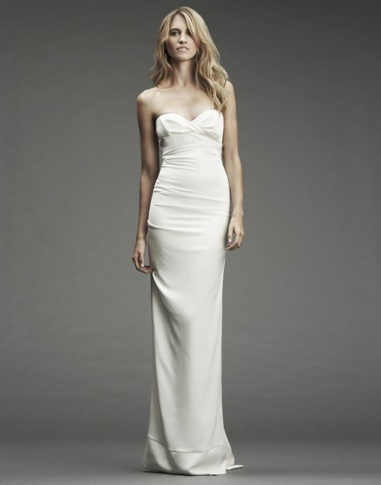 Nicole Miller Camilla Strapless Stretch Bridal Gown