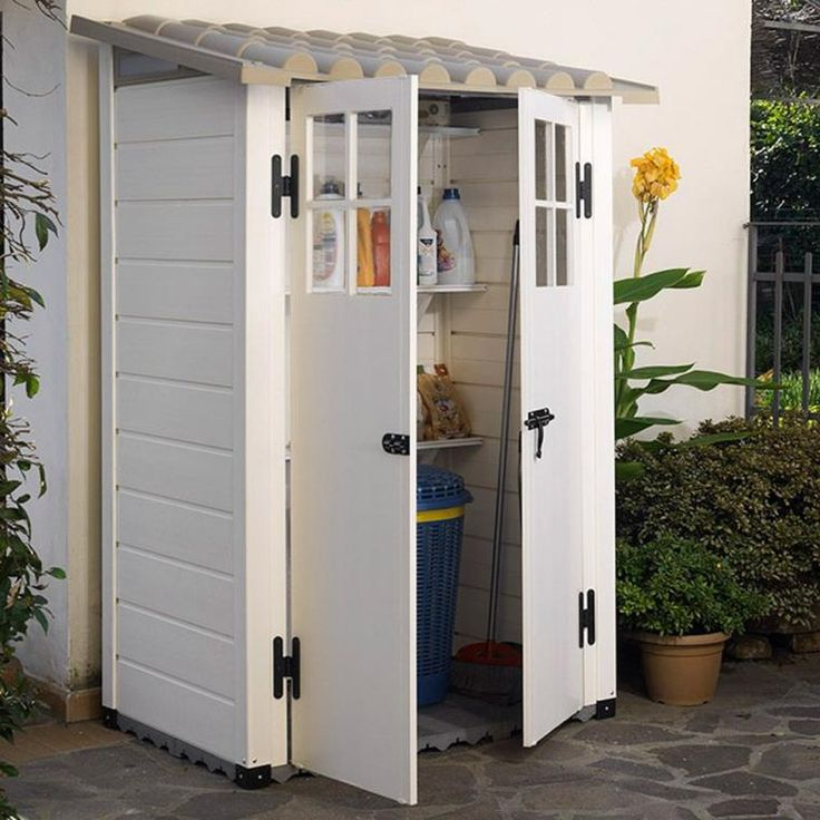 armoire de jardin abris-resine-blanc-maison