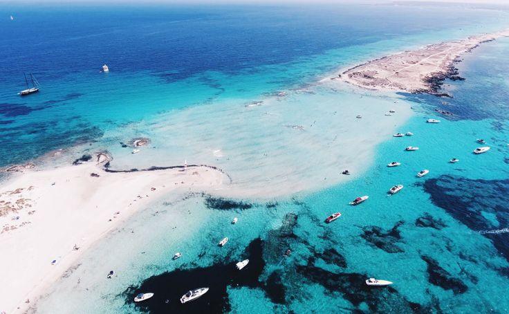 espalmador beach water path Formentera