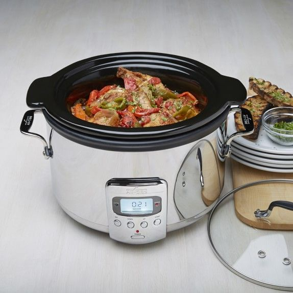 All-Clad Slow Cooker with Ceramic Insert, 4 Qt. | Williams-Sonoma