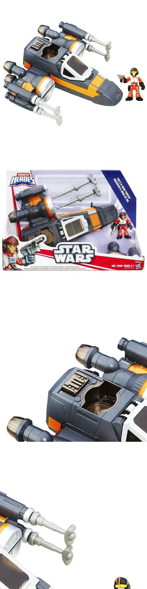 Playskool 2576: Playskool Star Wars Galactic Heroes Poe'S X-Wing Fighter Figures Hasbro Chop -> BUY IT NOW ONLY: $30.31 on eBay!