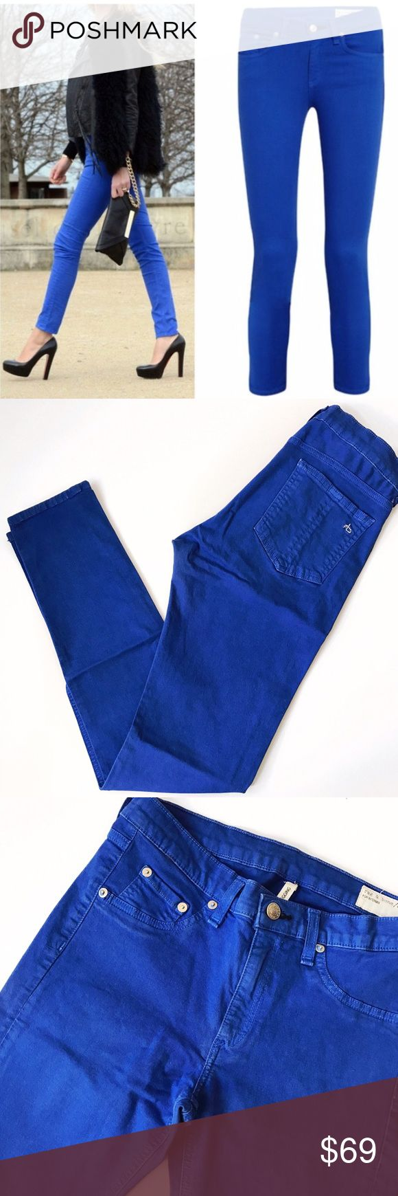 ➡rag & bone Electric Blue Legging Jeans⬅ Form fitting soft jeans in a gorgeous color that will give your closet a bright pop of color. 💕Offers welcome. Take 30% off your entire purchase automatically at checkout when you use the bundle feature, or make an offer for your bundle. Happy Poshing!💕 rag & bone Jeans Skinny