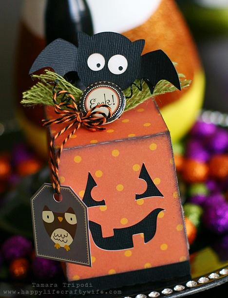 adorable diy paper halloween favor box by tamara - Diy Halloween Favors