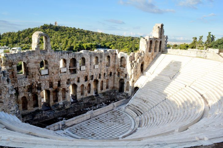 Théâtre de Dionysos à Athènes en Grèce