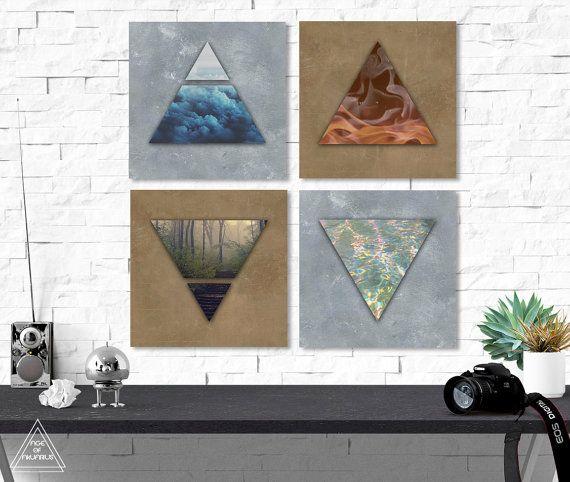 alchemy four elements print set digital download four. Black Bedroom Furniture Sets. Home Design Ideas