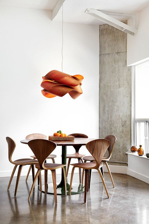 LZF LAMPS | Link wood lamp | Bachelor Loft, Toronto | Wood touched by Light | Since 1994: Vintage Knoll, Deco Ideas, Lzf Lamps, Interiors Design, Modern Loft, Contemporary Dining Rooms, Bachelor Loft, House, Photo