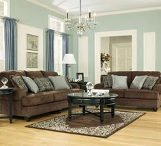 chocolate living room. Crawford Chocolate living room set by Ashley Furniture  Has matching accent chair with the same Best 25 rooms ideas on Pinterest Rustic doors