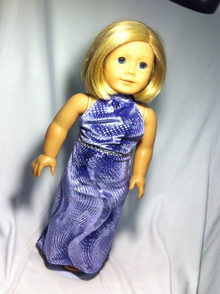 A personal favorite from my Etsy shop https://www.etsy.com/ca/listing/543793659/halter-ego-dress-for-18-inch-doll-ie