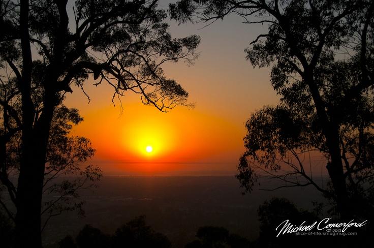 Sunrise over Sydney from the Blue Mountains, NSW, Australia.  www.slice-of-life.smugmug.com  www.photorhubarb.wordpress.com  www.facebook.com/sliceoflifephotos