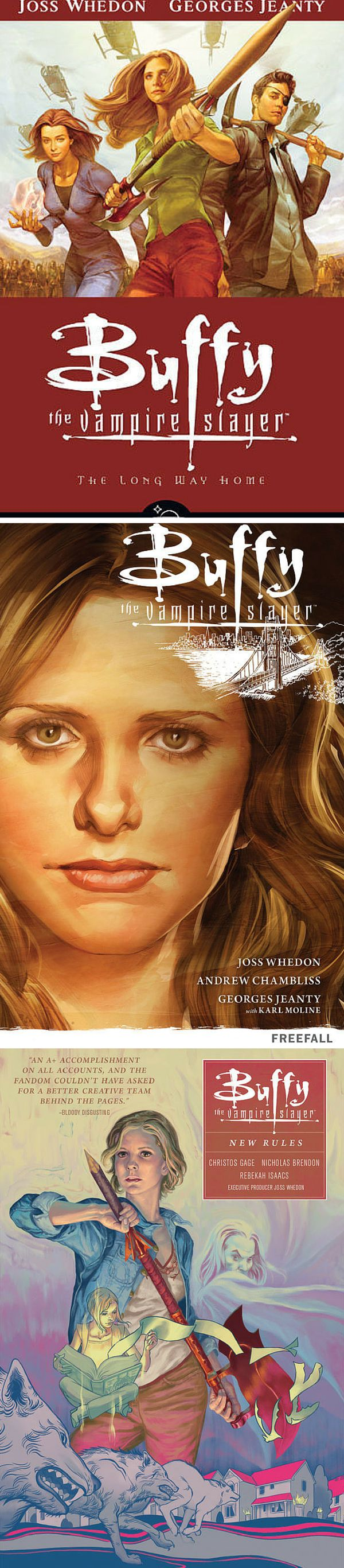 Buffy the Vampire Slayer Season 8, 9  & 10. Continue the story of the Slayer from Dark Horse comics