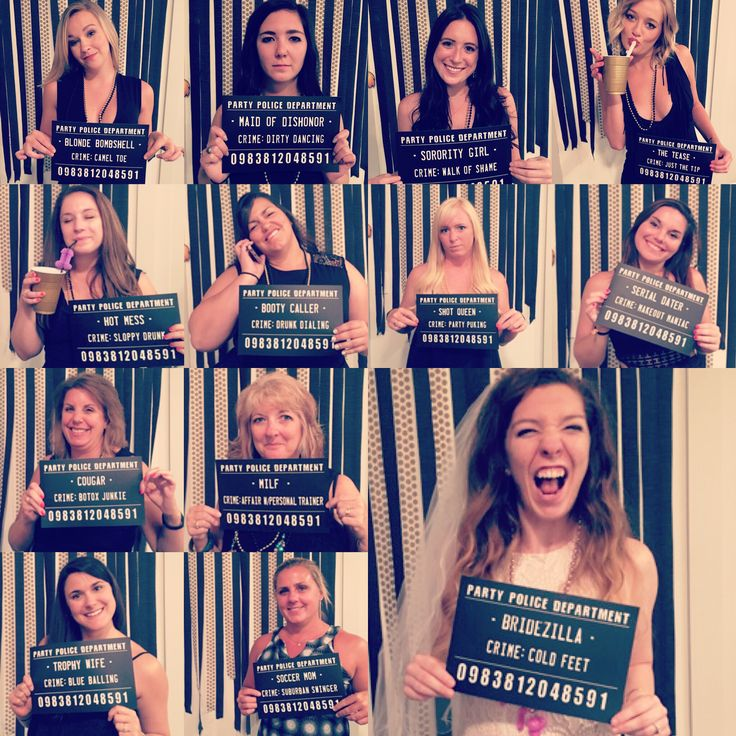 Bachelorette party idea - MUG SHOTS!