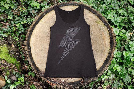 Blitz Vest Handprinted by SayItBerlin on Etsy