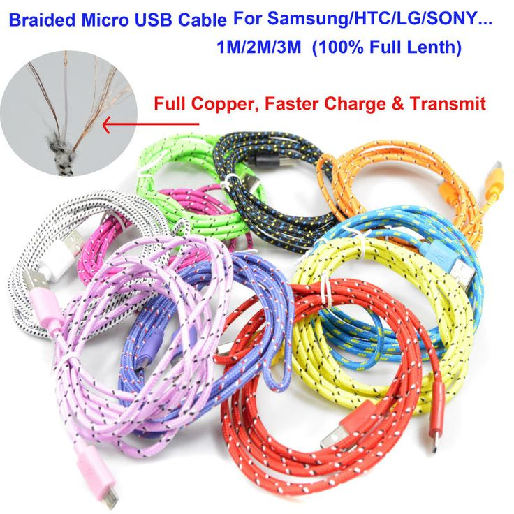 83 best micro usb cable images on pinterest electrical cable cheap phone buy quality waterproof directly from china fashion suppliers braided wire micro usb cable sync nylon woven charger cords for samsung galaxy cheapraybanclubmaster Choice Image