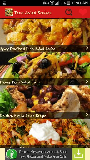 Taco Salad Recipes<p>The taco salad is a dish inspired by the Mexicans and has very many variations. It first appeared in 1960s in America. This salad takes a twist in a variety of homes in America. The meal is based on top of tortilla chips which are often crushed instead of using Spanish rice or a tortilla bowl of as a base,  This makes it a dish that is similar to nachos which is a Mexican dish, with an addition of frozen cheese and lettuce. <p>Taco salads are excellent; it is very light…