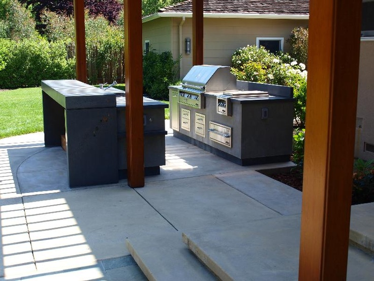Concrete Outdoor Kitchens Design Kitchen And Bath
