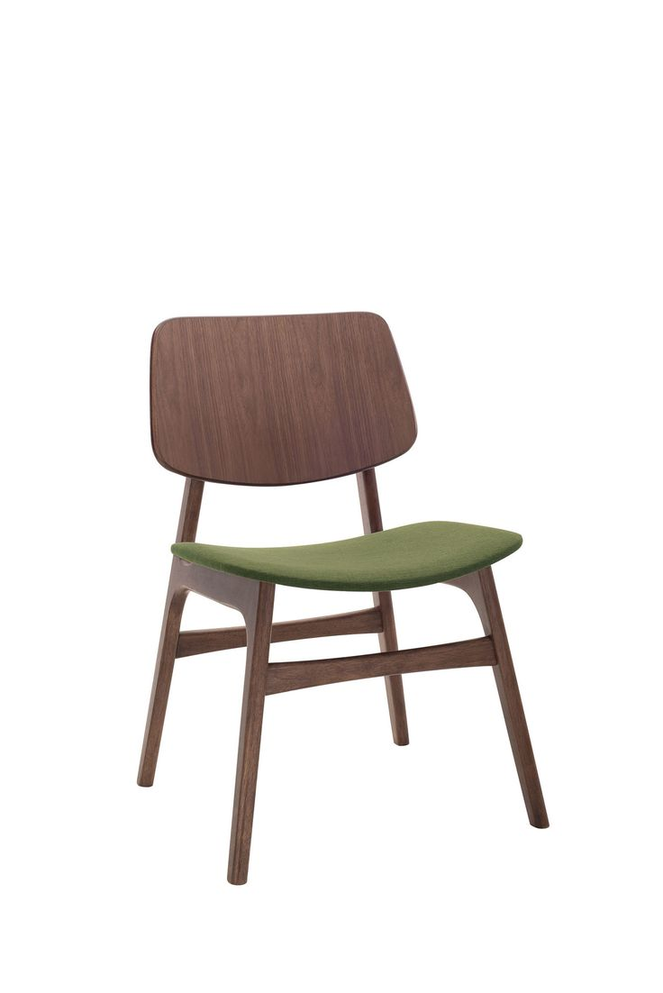 Margo Olive Fabric Walnut Dining Chair   Chairs U0026 Stools   Bryght   High  End Furniture Without The Markup