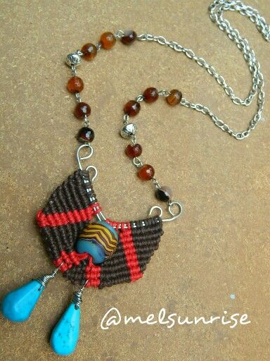 Another macrame work with wire, java bead and agate beads