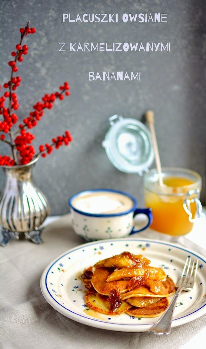 Asia's White Kitchen: Placuszki owsiane z karmelizowanymi bananami