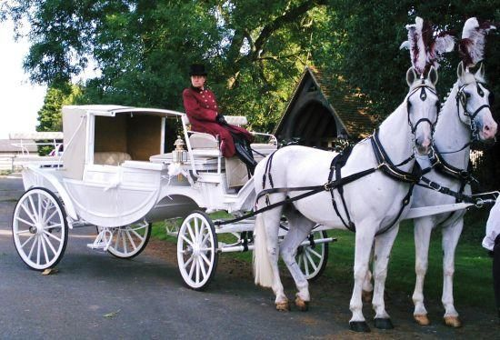 Equishare horse drawn carriages red white pinterest for Car carriage