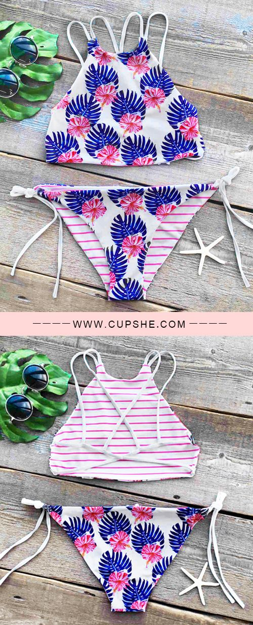 Treat Yourself to Something Special. This bikini set is detailed with floral printing&tie design! Just choose sophisticated & lovely ones at Cupshe.com !