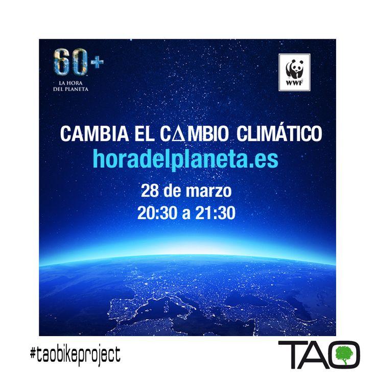 Nosotros nos hemos unido a www.horadelplaneta.es #tupoder para proteger el planeta #taoadvise #taolife Filosofía Tao, cuidemos el planeta! No dudes en apagar las luces de 20:30 a 21:30