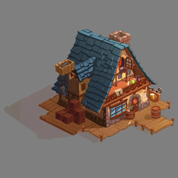 ArtStation - concepts of houses, Serge Samsonov