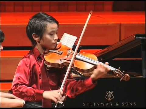 """You have to hear the 1st Prize winner in the Juniors division, 11-year-old Kevin Zhu, at the finals of the Menuhin Competition Beijing 2012 playing the """"Carmen Fantasy, Op. 25,"""" by Pablo de Sarasate."""