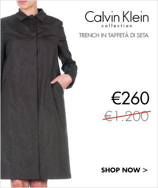 Calvin Klein Collection trench in taffetà di seta 260€