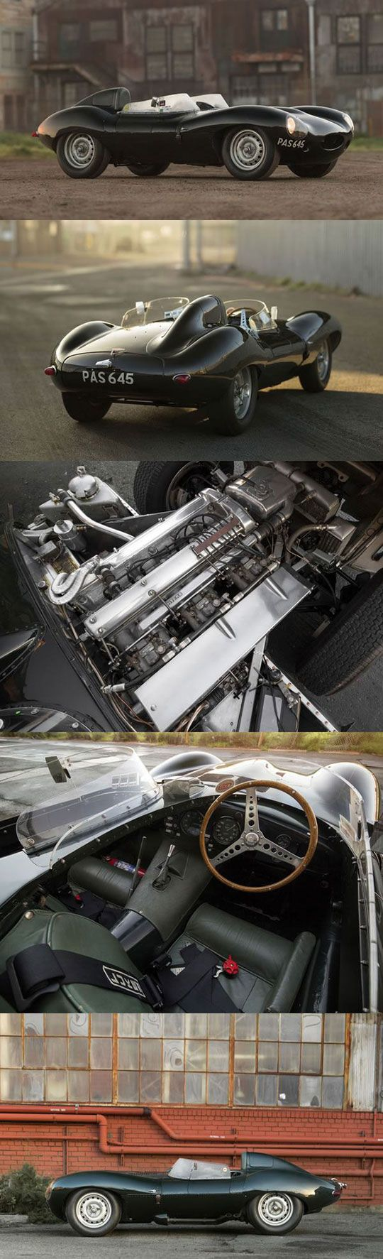 1955 Jaguar D-Type. .......Fab shots of the classic racing Jaguar D type! #JaguarDType