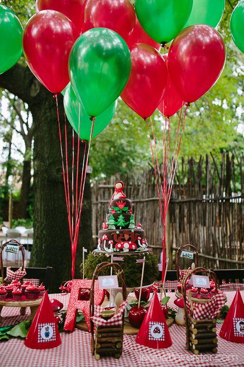 rode en groene ballonnen!