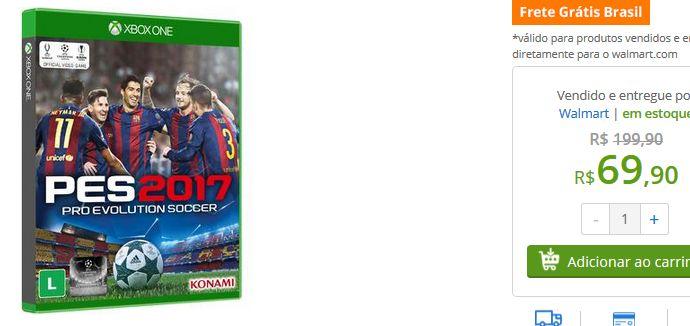 Jogo Xbox One Pro Evolution Soccer 2017 << R$ 6990 >>