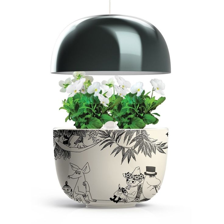 The set includes:Plantui Moomin Garden 3, black. Height Min 20 - Max 50 cmPlantui metal standMoomin growth book9 plant capsules  an adapter electrical plug, that allows the Plantui to be used in for example JapanFree worldwide shippingPlantui Moomin Garden 3 brings the joy of gardening to all sized kitchens. You just place 3 Plantui Plant Capsules in the device and the Moomin Garden takes care of the growing. The device with its intelligent light system and automatic watering pump helps you…