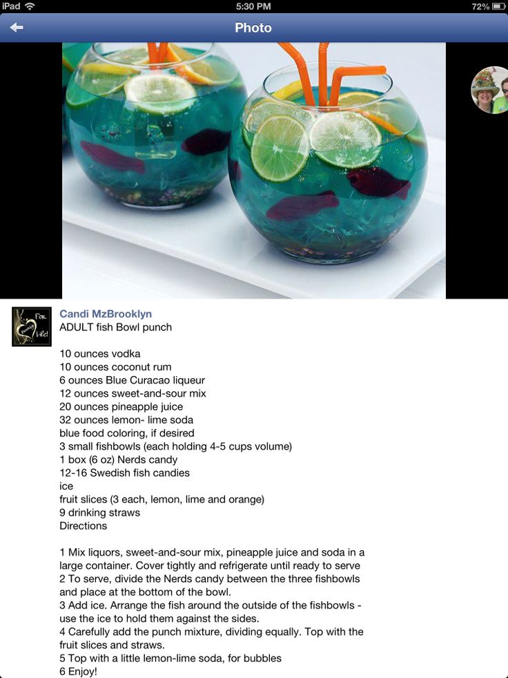 Best 25 fish bowl punch ideas on pinterest party drinks for Fish bowl punch
