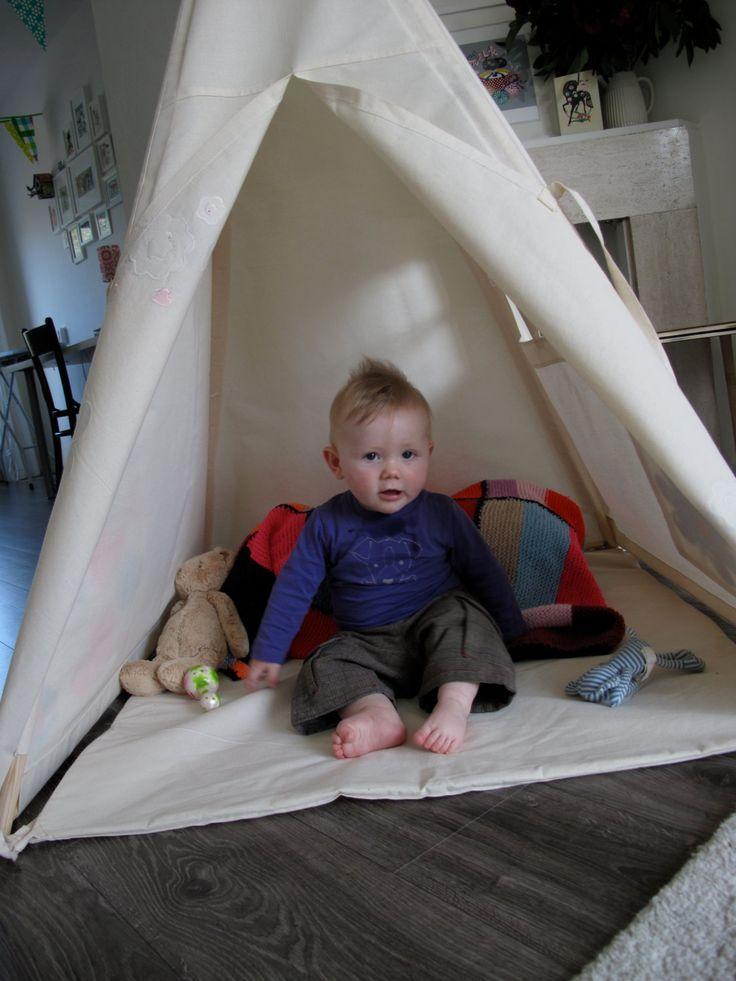 Play Teepee Tent  Plain cotton indoor play teepee by moozlehome, $188.00