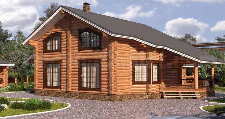 Проект деревянного дома — дом из бревна Завидово-2