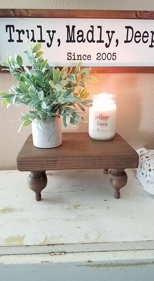 Wood Tray Decorative Tray Pedestal Tray Bed Tray Farmhouse