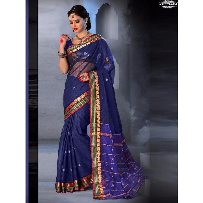 Chennai Express Cotton  Purple  Designer Sarees