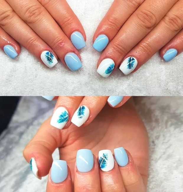 So Cute Short Acrylic Nails Ideas You Will Love Them Amazing Light Blue Acrylic Nails Design Square Acrylic Nails Blue Acrylic Nails Acrylic Nail Designs