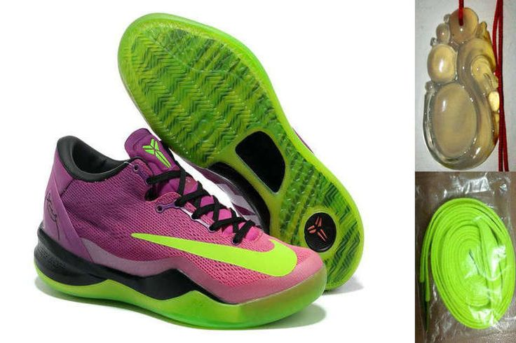Nike Kobe 8 VIII System Mambacurial Red Plum Electric Green Pink Flash Mens  Basketball Shoes For Sale