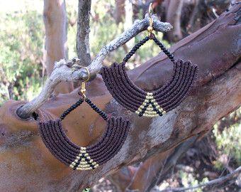 Cleopatra's earrings - Handmade, micro macrame!