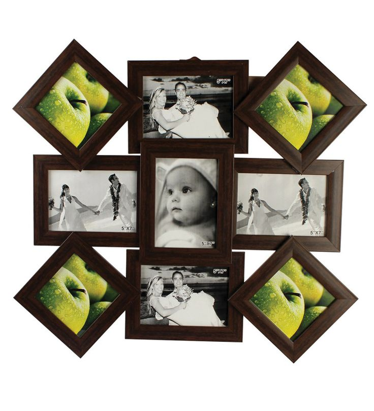 PICTURE COLLAGE FRAMES FOR SALE | Buy Wallkart Go Hooked 9 In 1 Collage Photo Frame Online at Best Price ...