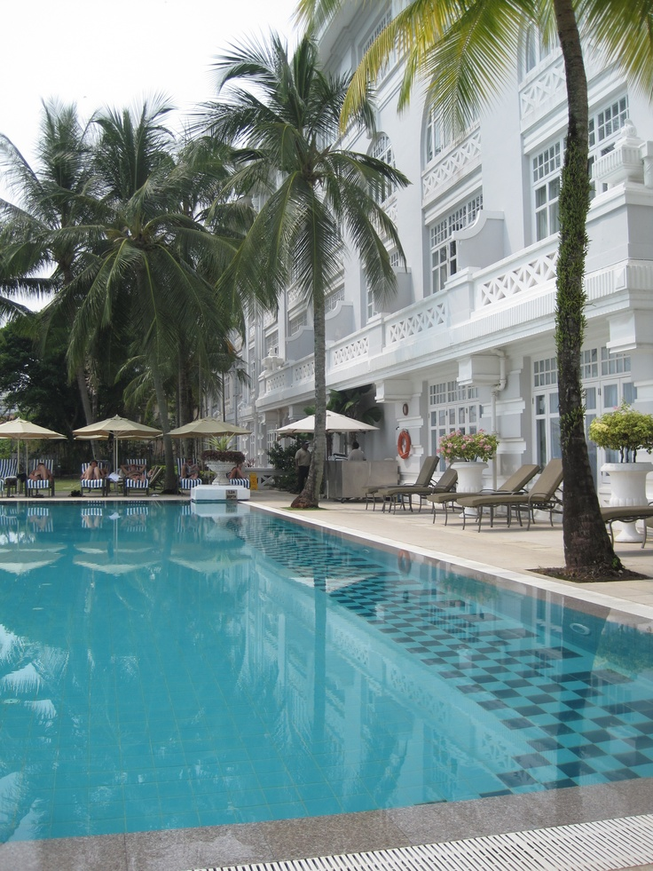 E & O Hotel in Penang, Malaysia, embodies Old World luxury with modern amenities. I love the gorgeous pool overlooking the Strait of Malacca.