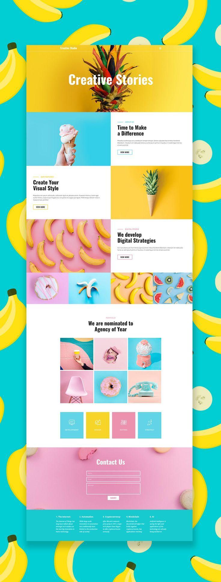 Free Template by Nicepage Builder   Web Design Layout   Portfolio Website   Graphic Designer …
