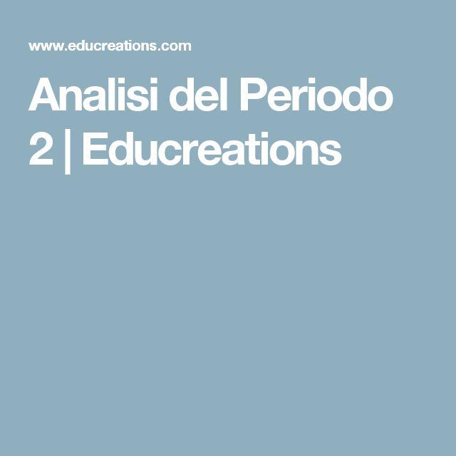 Analisi del  Periodo 2 | Educreations