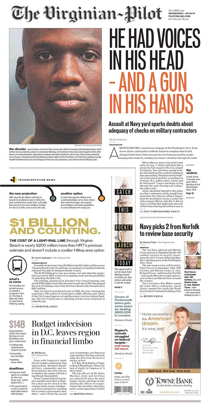 The Virginian-Pilot, published in Norfolk, Virginia USA