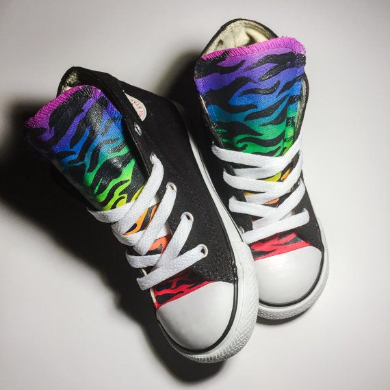 Hey, I found this really awesome Etsy listing at https://www.etsy.com/listing/265652929/rainbow-zebra-print-custom-converse